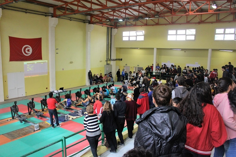 Championnat de Tunisie d'Aviron en Salle 2018