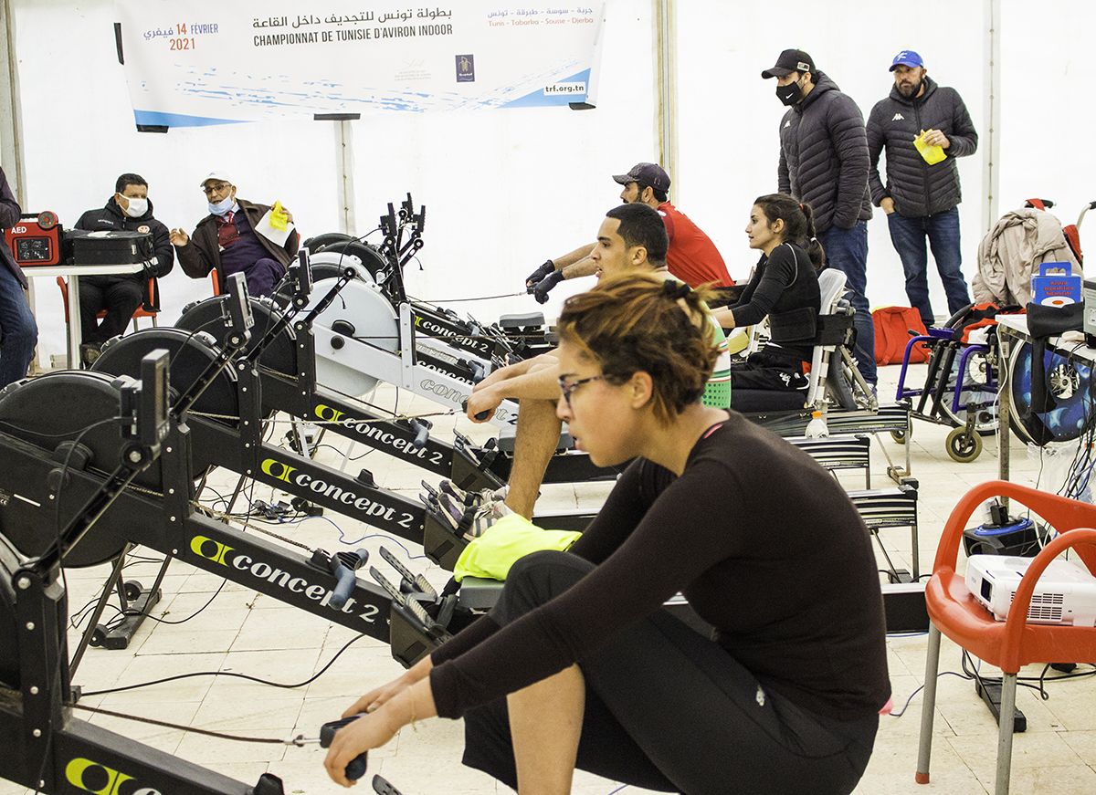 Championnat de Tunisie d'Aviron Indoor 2021