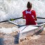 Hela Belhaje Mohamed, Junior Women's Solo, Tunisia, 2021 World Rowing Beach Sprint Finals, Oeiras, Portugal / World Rowing/Benedict Tufnell